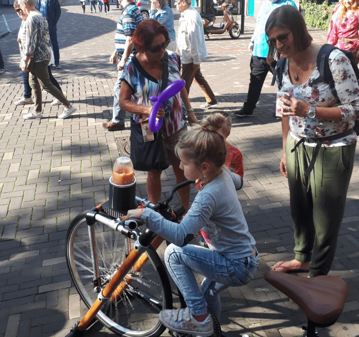 smoothie bike of smoothie fiets leuk voor elk evenement.